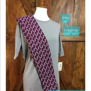 LULAROE OUTFIT XS IRMA, OS MSRP $60, on sale $39